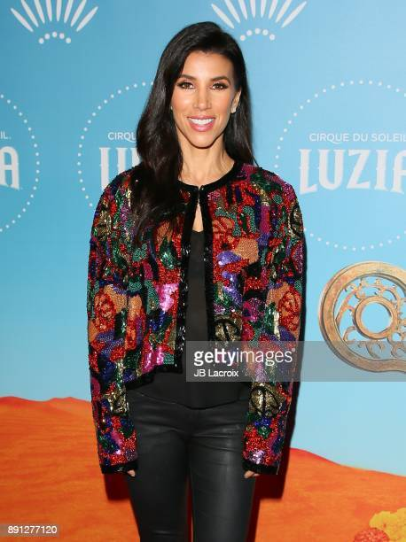 Adrianna Costa attends Cirque du Soleil presents the Los Angeles premiere event of 'Luzia' at Dodger Stadium on December 12 2017 in Los Angeles...