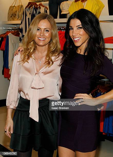 Adrianna Costa right pictured with Alexis Avery hosts bebe at Miracle Mile's 'Bold New Look' event on January 12 2012 in Las Vegas Nevada