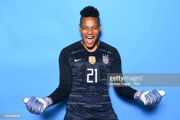 Adrianna Franch of the USA poses for a portrait during the official FIFA Women's World Cup 2019 portrait session at Best Western Premier Hotel de la...