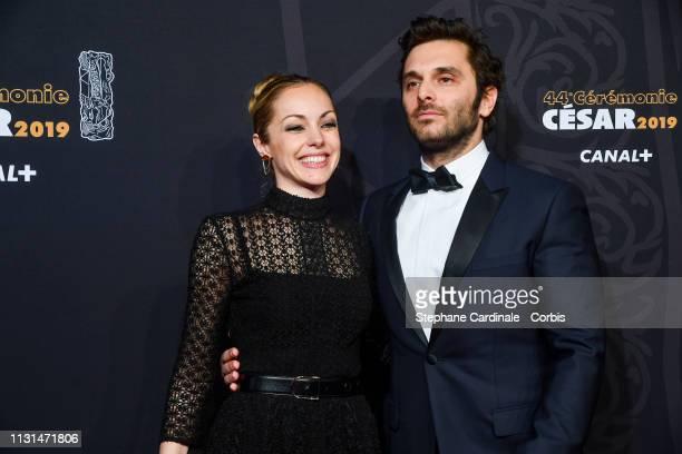 Adrianna Gradziel and Pio Marmai attend the Cesar Film Awards 2019 the Cesar Film Awards 2019 at Salle Pleyel on February 22 2019 in Paris France
