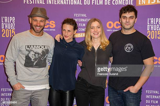 Adrianna Gradziel Pio Marmai Franck Gastambide and Camille Cottin attend the closing ceremony of the 18th L'Alpe D'Huez International Comedy Film...