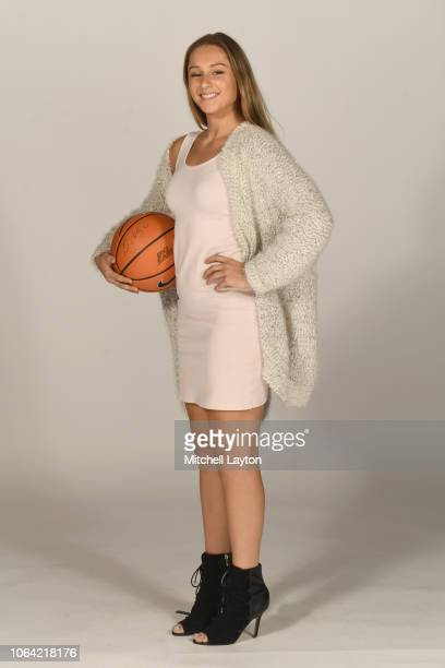Adrianna Hahn of the Villanova Wildcats poses for pictures during Big East Media Day at Madison Square Garden on October 25 2018 in New York City