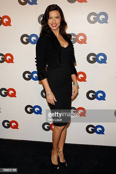 Adrianna Lima arrives at GQ Magazine's 50th Year Celebration party at Cedar Lake on September 18 2007 in New York City