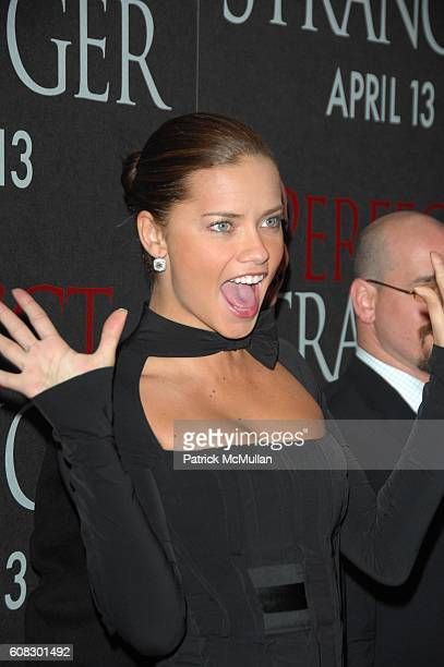 Adrianna Lima attends PERFECT STRANGER redcarpet arrivals at Zeigfeld Theater NYC on April 10 2007