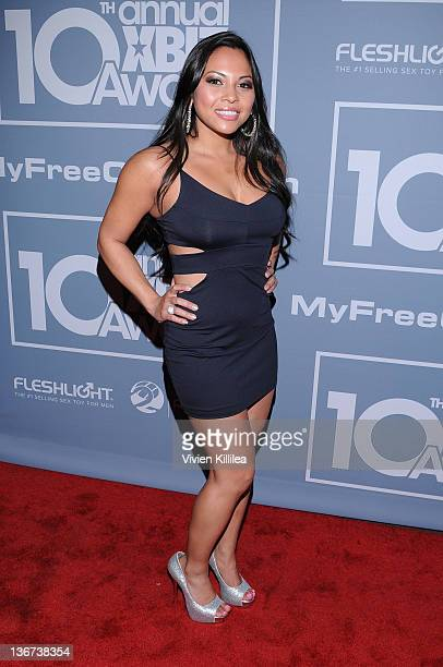 Adrianna Luna Attends The 10th Annual Xbiz Awards At The Barker Hanger On January 10 2012
