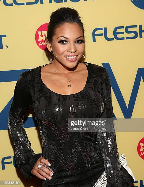 Adrianna Luna Attends The  Xbiz Awards At The Hyatt Regency Century Plaza On January