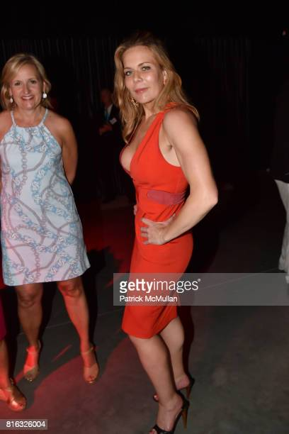 Adrianna Pidwerbetsky and Erin Gibbs attend the Midsummer Party 2017 at Parrish Art Museum on July 15 2017 in Water Mill New York