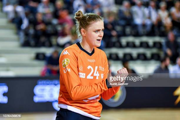 Adrianna Placzek of Fleury during the Women's French League match between Paris 92 and Fleury on August 29 2018 in IssylesMoulineaux France