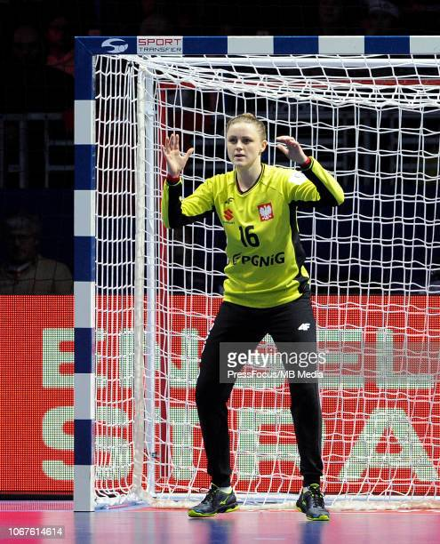 Adrianna Placzek of Poland in action during the EHF Women's Euro match between Poland and Denmark on December 2 2018 in Nantes France