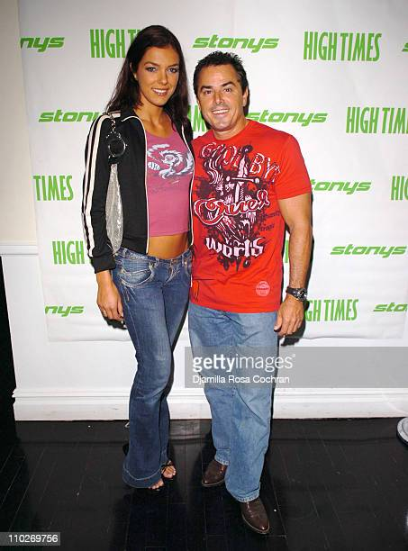 Adrianne Curry and Chris Knight during The 5th Annual Stony Awards at Spirit in New York City New York United States