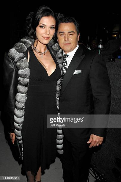 Adrianne Curry and Christopher Knight during 5th Annual TV Land Awards Backstage at Barker Hangar in Santa Monica California United States