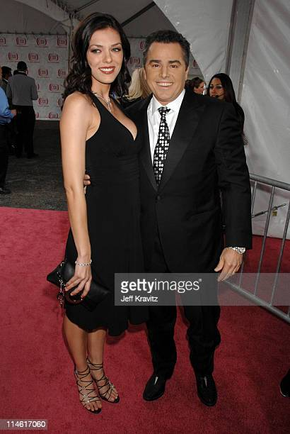 Adrianne Curry and Christopher Knight during 5th Annual TV Land Awards Red Carpet at Barker Hangar in Santa Monica California United States