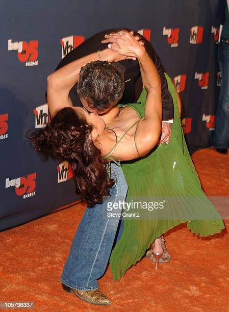 Adrianne Curry and Christopher Knight during VH1 Big in '05 Arrivals at Sony Studios in Culver City California United States