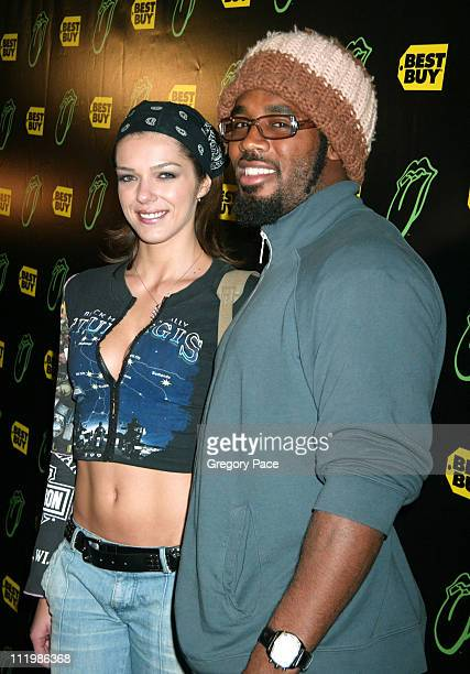 Adrianne Curry and Dhani Jones