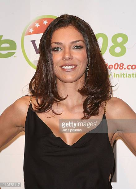 Adrianne Curry arrives at the Launch of WE Vote '08 at Tenjune on November 28 2007 in New York City