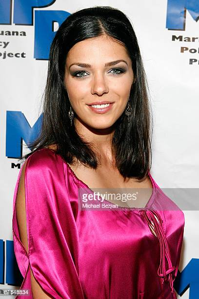 Adrianne Curry arrives at the Marijuana Policy Project's 3rd Annual Party and Fundraiser on June 12 2008 at the Playboy Mansion in Beverly Hills...