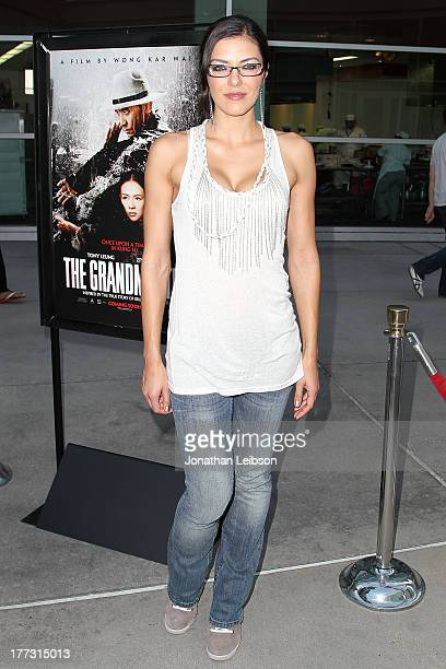 Adrianne Curry arrives to the The Grandmaster Los Angeles Premiere at ArcLight Cinemas on August 22 2013 in Hollywood California