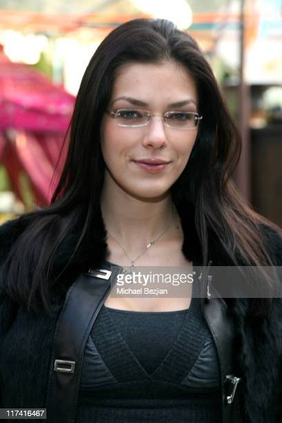 Adrianne Curry during 2007 Silver Spoon Golden Globes Suite Day 2 in Los Angeles California United States Photo by Michael Bezjian/WireImage for...