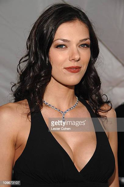 Adrianne Curry during 5th Annual TV Land Awards Red Carpet at Barker Hangar in Santa Monica California United States