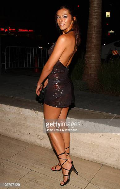 Adrianne Curry during GQ and Jaguar Present The Roof is on Fire Sponsored by Valentino Arrivals at Museum of Television Radio in Beverly Hills...