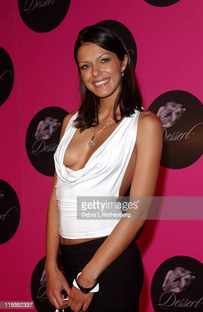 Adrianne Curry during Jessica Simpson and Nick Lachey Host Dessert Beauty Launch Party Pink Carpet Arrivals at Marquee in New York City New York...