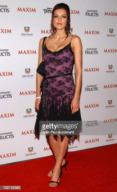 Adrianne Curry during Maxim Magazine's Hot 100 Arrivals at Montmartre Lounge in Hollywood California United States