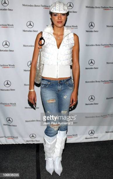 Adrianne Curry during MercedesBenz Spring 2006 LA Fashion Week at Smashbox Studios Day 3 Arrivals at Smashbox Studios in Culver City California...