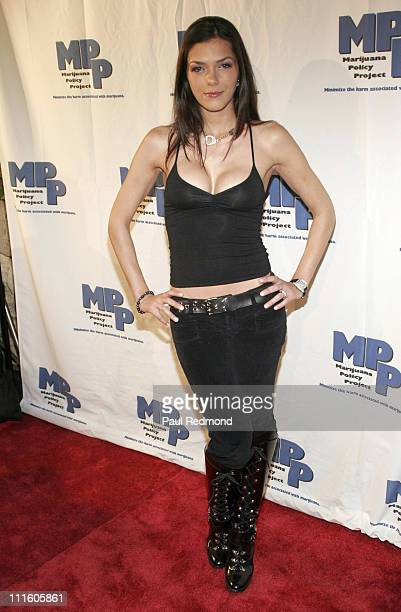 Adrianne Curry during MPP Marijuana Policy Project Fundraising Party at Playboy Mansion in Los Angeles California United States