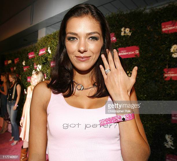 Adrianne Curry during TMobile Sidekick 3 Launch Red Carpet at 6215 Sunset Blvd in Los Angeles California United States
