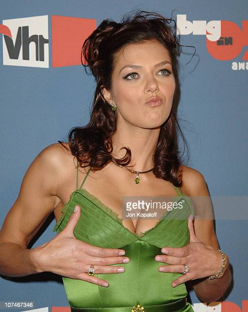 Adrianne Curry during VH1 Big in '05 Arrivals at Sony Studios in Los Angeles California United States