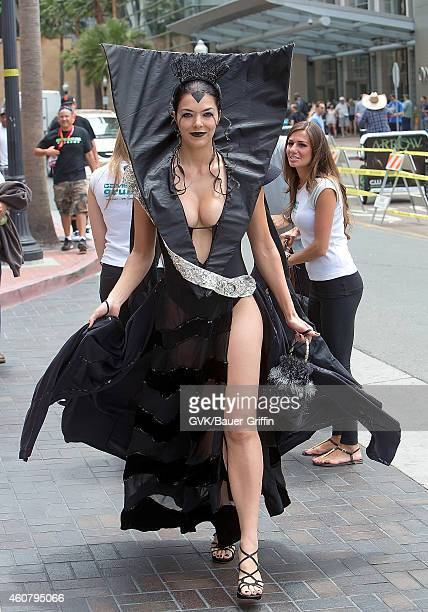 Adrianne Curry is seen at Comic Con on July 14 2012 in San Diego California