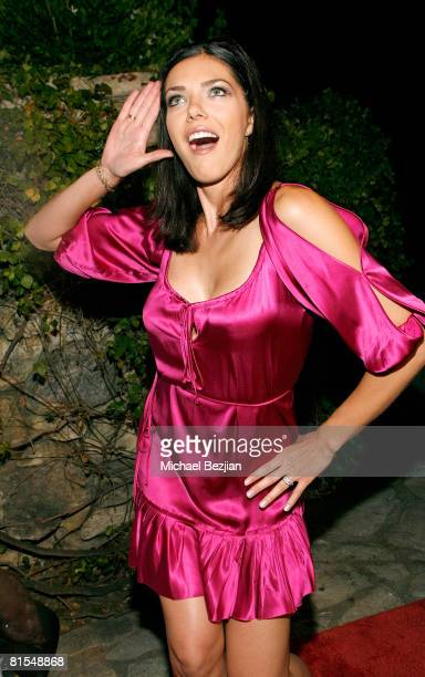 Adrianne Curry poses at the Marijuana Policy Project's 3rd Annual Party and Fundraiser on June 12 2008 at the Playboy Mansion in Beverly Hills...