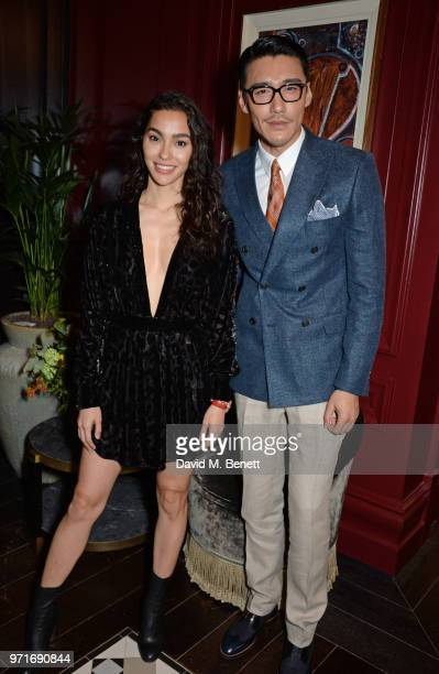 Adrianne Ho and Hu Bing attend the GQ Dinner cohosted by Dylan Jones and Loyle Carner to celebrate London Fashion Week Men's June 2018 at Neptune At...
