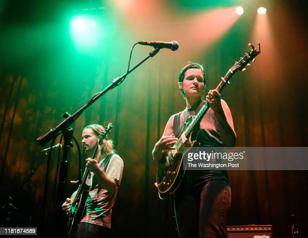 Adrianne Lenker and Max Oleartchik of Big Thief performs a sold out show at the 930 Club on Sunday