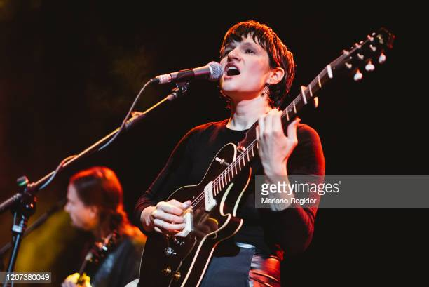 Adrianne Lenker from the American indie rock band Big Thief performs on stage at Joy Eslava on February 19, 2020 in Madrid, Spain.