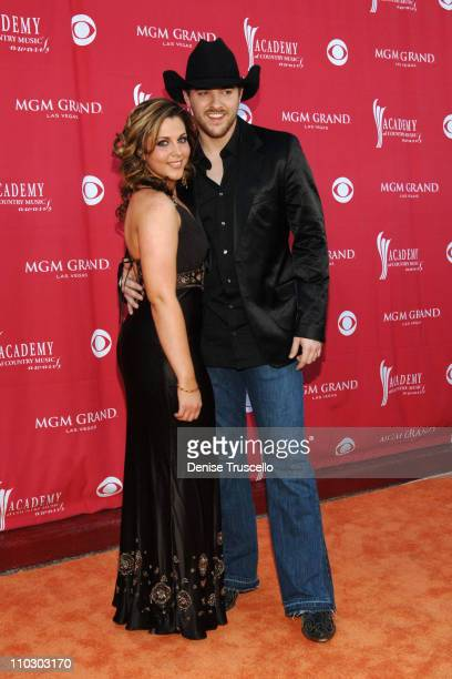 Adrianne Leon and Chris Young during 42nd Academy of Country Music Awards Red Carpet at The MGM Grand Hotel and Casino Resort in Las Vegas Nevada