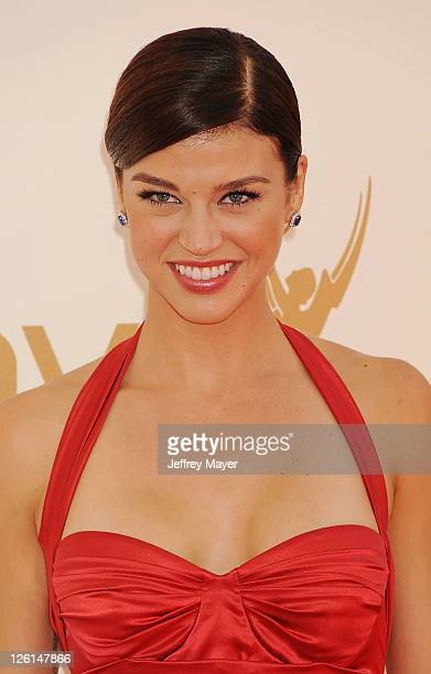 Adrianne Palicki arrives at the 63rd Primetime Emmy Awards at the Nokia Theatre LA Live on September 18 2011 in Los Angeles California