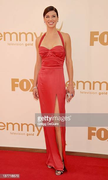 Adrianne Palicki arrives at the Academy of Television Arts Sciences 63rd Primetime Emmy Awards at Nokia Theatre LA Live on September 18 2011 in Los...