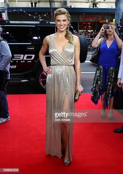 "Adrianne Palicki arrives at the ""G.I.Joe: Retaliation"" - Australian Premiere at Event Cinemas George Street on March 14, 2013 in Sydney, Australia."