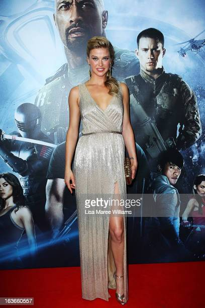 Adrianne Palicki arrives at the GIJoe Retaliation Australian Premiere at Event Cinemas George Street on March 14 2013 in Sydney Australia