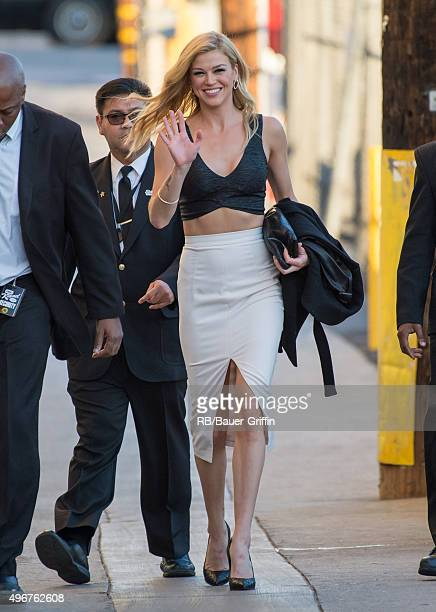 Adrianne Palicki is seen at 'Jimmy Kimmel Live' on November 11 2015 in Los Angeles California