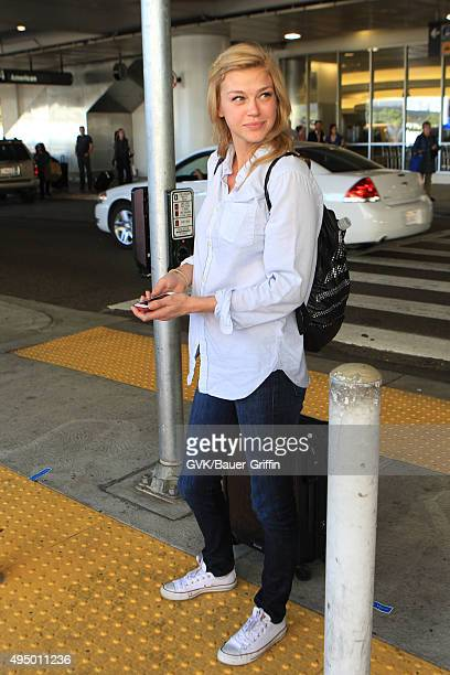 Adrianne Palicki is seen at LAX on October 30 2015 in Los Angeles California