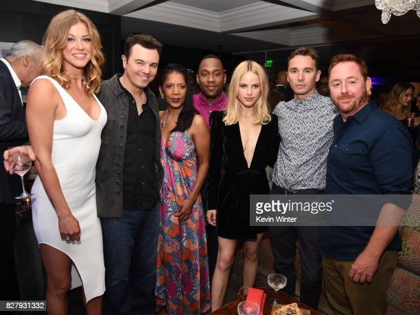 Adrianne Palicki Seth MacFarlane Penny Johnson Mark Jackson Halston Sage J Lee and Scott Grimes attend the FOX 2017 Summer TCA Tour after party on...