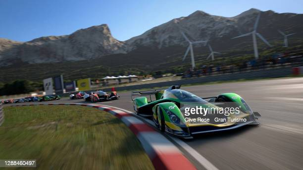 Adriano Carrazza of Brazil competes in the FIA Gran Turismo Championship Americas Nations Cup Regional Finals 2020 run at the fictional Sardegna...