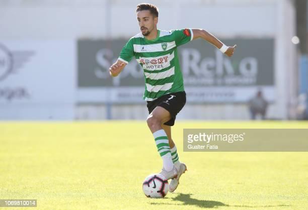Adriano Castanheira of SC Covilha in action during the Liga Ledman Pro match between GD Estoril Praia and SC Covilha at Estadio Antonio Coimbra da...