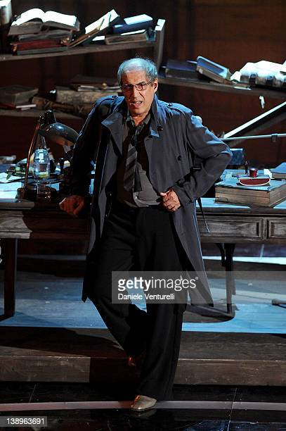 Adriano Celentano attends the opening night of the 62th Sanremo Song Festival at the Ariston Theatre on February 14 2012 in San Remo Italy