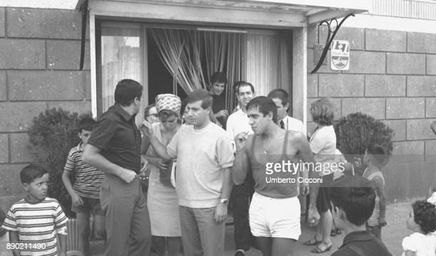 Adriano Celentano in Rome in 1964 he is a famous Italian singer composer producer comedian actor film director and TV host