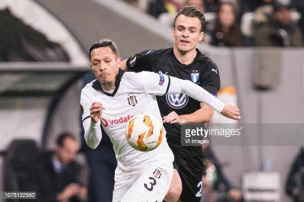 Adriano Correia Claro of Besiktas JK Andreas Vindheim of Malmo FF during the UEFA Europa League group I match between between Besiktas AS and Malmo...