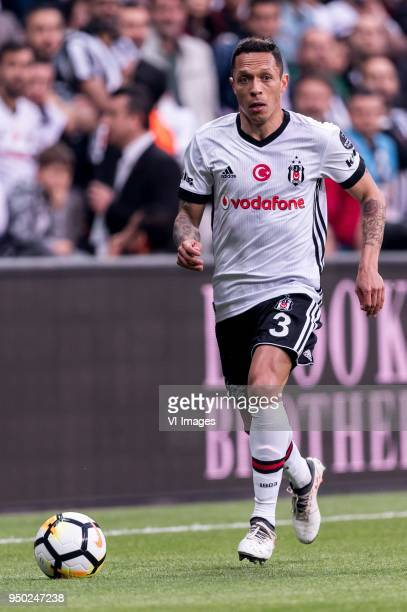 Adriano Correia Claro of Besiktas JK during the Turkish Spor Toto Super Lig football match between Besiktas JK and Evkur Yeni Malatyaspor on April 22...