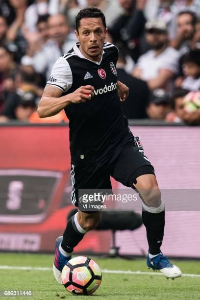 Adriano Correia Claro of Besiktas JKduring the Turkish Spor Toto Super Lig football match between Besiktas JK and Kasimpasa AS on May 20 2017 at the...
